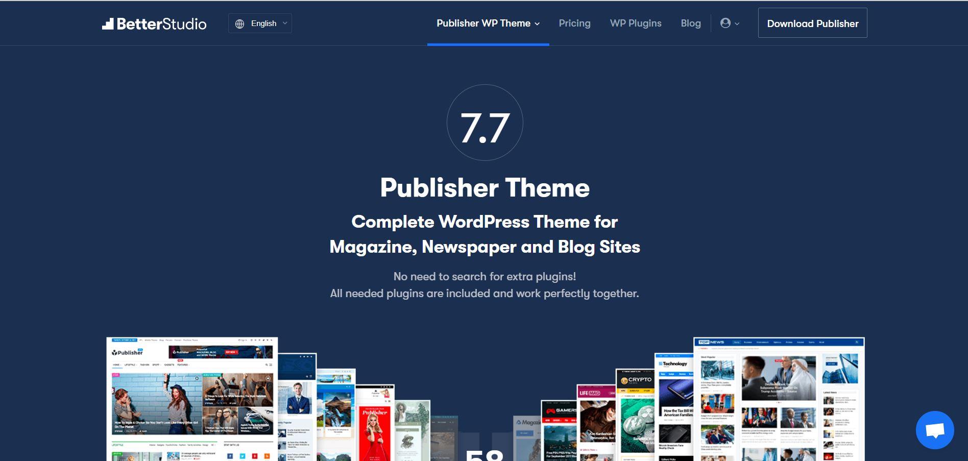 Publisher – Newspaper Magazine WordPress Theme V.7.7.0