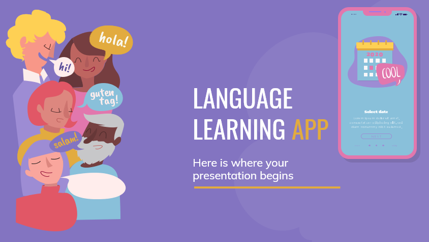 Language Learning Download Free PowerPoint Templates