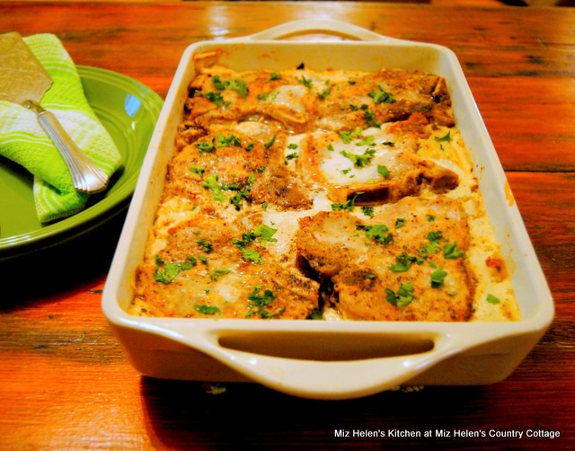 Braised Pork Chops With Cabbage & Mustard Sauce at Miz Helen's Country Cottage