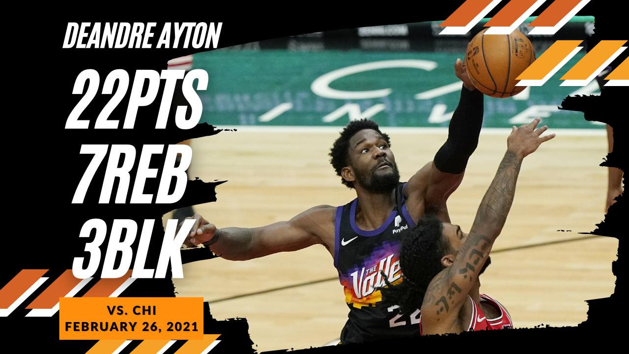 Deandre Ayton 22pts 7reb vs CHI | February 26, 2021 | 2020-21 NBA Season