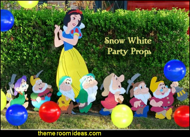 snow white party props 7 dwarfs party props snow white party decorations 7 dwarfs party decorations
