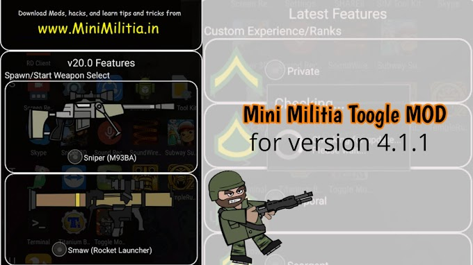ToggleMod Patcher for Mini Militia v4.1.1