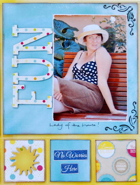 Misc. Me Spread by Denise van Deventer using BoBunny Make a Splash and Pentart Iron Paste
