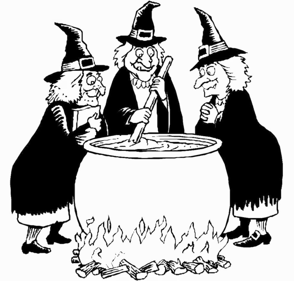 Streghe Di Halloween Da Colorare