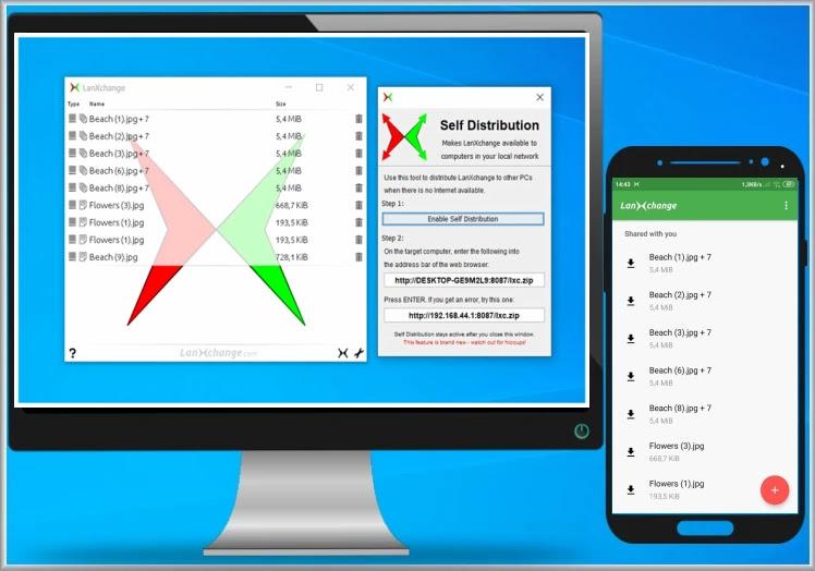 LanXchange : Δωρεάν εφαρμογή μεταφοράς αρχείων από κινητό σε υπολογιστή και αντίστροφα