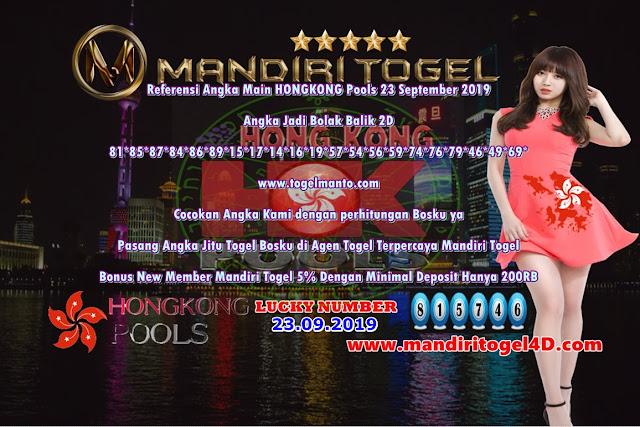 Prediksi Lucky Number Togel Hongkong Mandiri Togel 23 September 2019