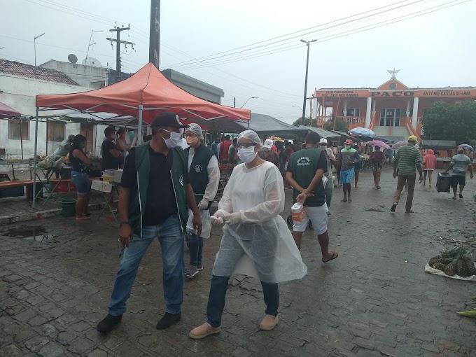 SÃO JOSÉ DOS RAMOS: Prefeitura de São José dos Ramos realiza barreira sanitária e reativa a feira municipal com lavatório público.