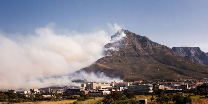 University Of Cape Town On Fire