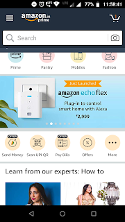 AMAZON PAY OFFER : GET FLAT RS.50 CASHBACK on SCAN AND PAY OFFER