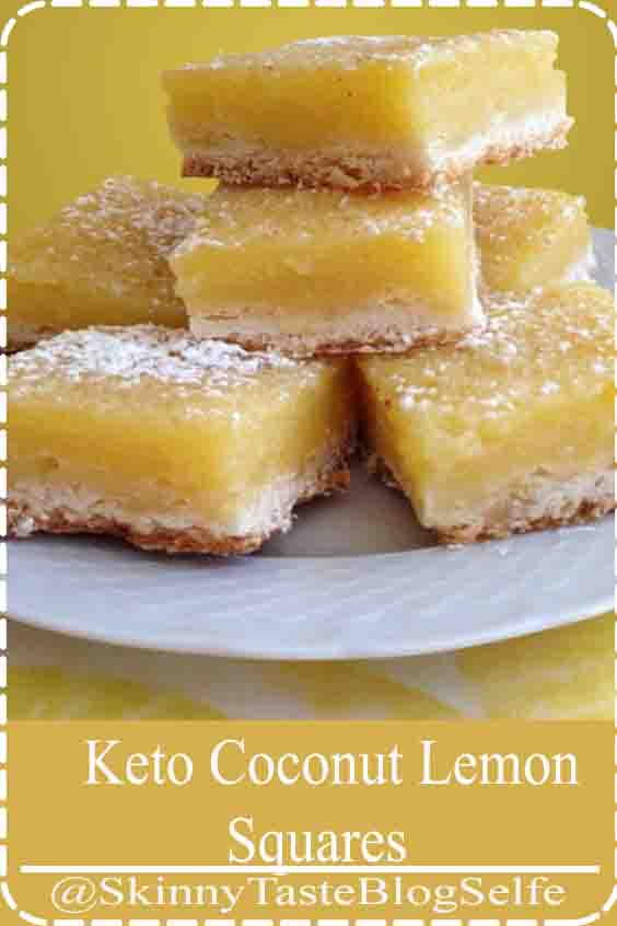 4.9 | ★★★★★ Traditional lemon squares are gooey and tangy and guaranteed to make a mess of your fingers. This spin on an old classic combines the bite of a lemon with a dairy free, egg based, custard style filling which is topped with crispy toasted coconut chips and packed with protein. #keto #ketodiet #ketorecipes #ketogenic #ketogenicdiet #ketogenicrecipes #lowcarb #lowcarbrecipes #Coconut #Lemon