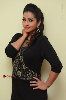 Telugu Actress Manasa Manohar Stills in Black Long Dress at Naku Nene Thopu Turumu Trailer Launch  0053.JPG
