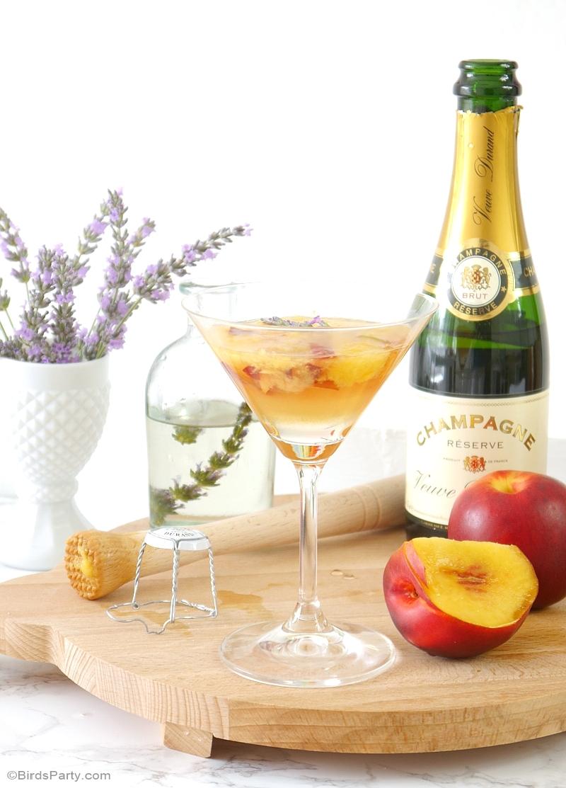Recette Cocktail à la Lavande et aux Pêches d'Été - BirdsParty.fr