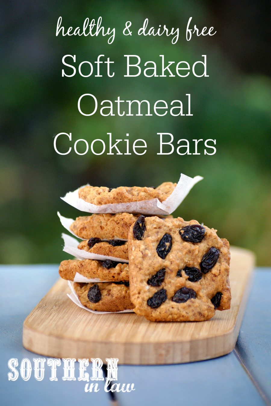Southern In Law Recipe Soft Baked Oatmeal Cookie Bars