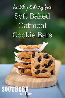 Gluten Free Soft Baked Oatmeal Cookie Bars Recipe