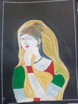 Lady drawing image