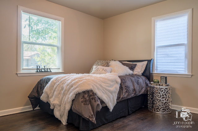 a staged master bedroom at a home for sale in Denver Colorado