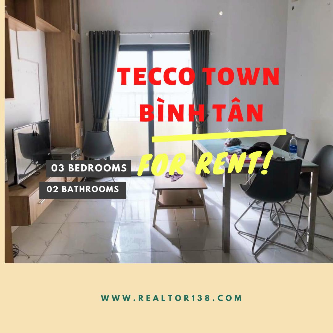 Cho thuê căn hộ 3 phòng ngủ Tecco Town Bình Tân block A