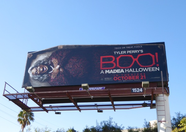 Boo A Madea Halloween coffin billboard