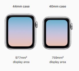 Apple watch 44mm and 40mm
