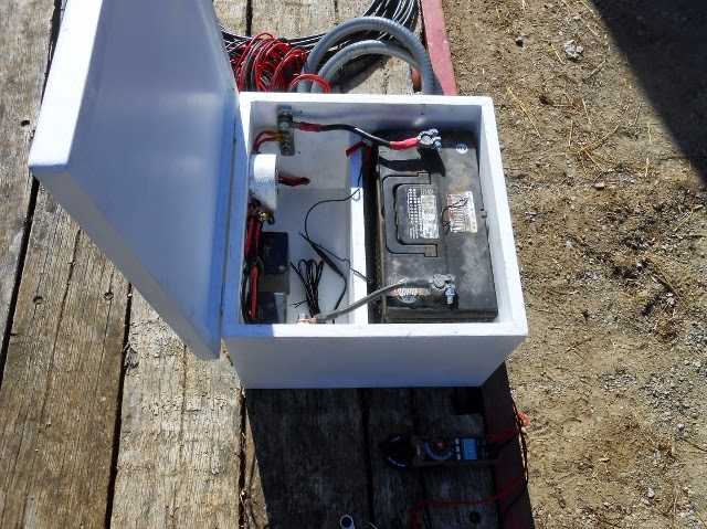 Conall S Boat Build Handrails And Winch Battery Box