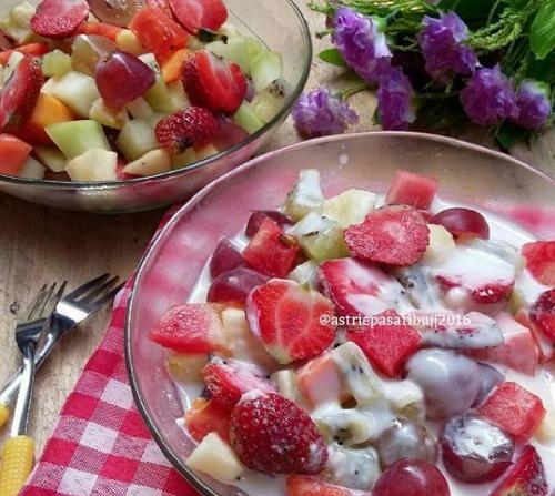 resep membuat salad buah
