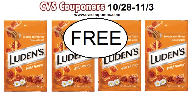 Luden's Wild Honey Cough Drops deal at CVS Couponers
