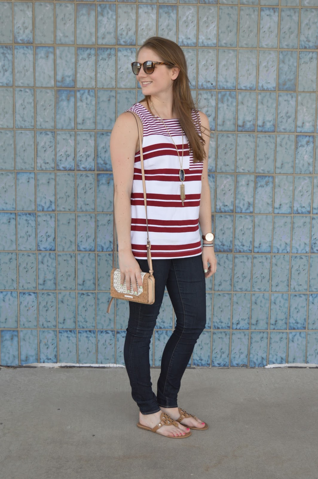 what to wear for fourth of july | fourth of july outfit ideas | outfit inspiration for the fouth of july | cute outfit ideas for summer | red and white striped tank | a memory of us |