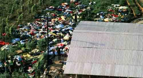 Pandangan dari udara tentang bunuh diri massal di Jonestown, Guyana, yang terjadi 40 tahun lalu, pada 18 November 1978. Foto: Bettmann / Bettmann Archive