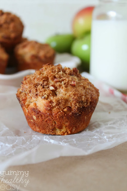 Healthy Apple Coffee Cake With Crumble Topping