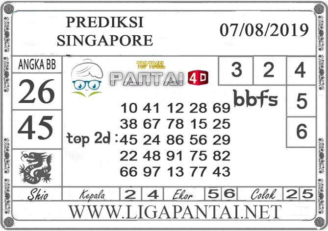 "PREDIKSI TOGEL ""SINGAPORE"" PANTAI4D 07 AGUSTUS 2019"