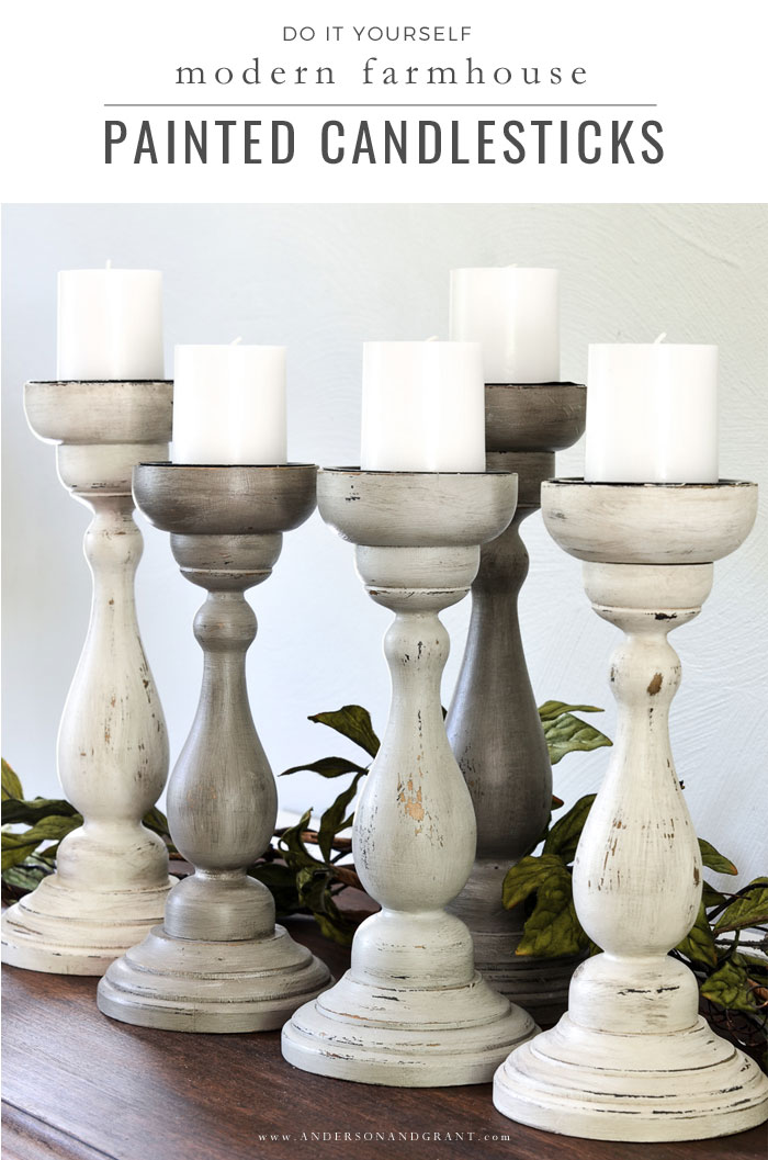 DIY Painted Candlesticks