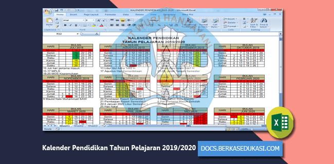 Kalender Pendidikan Tahun Pelajaran 2019-2020 untuk SD SMP SMA SMK MI MTs MA MAK