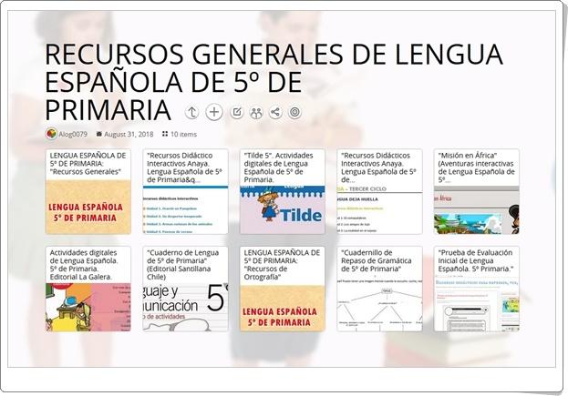 """10 RECURSOS GENERALES DE LENGUA ESPAÑOLA DE 5º DE PRIMARIA"""