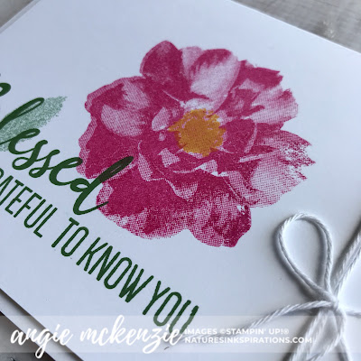 By Angie McKenzie on this Simple Satureday; Click READ or VISIT to go to my blog for details! Featuring the To A Wild Rose Stamp Set; #toawildrosestampset #bakerstwine #simplestamping #cleanandsimple #stampinupinks #anyoccasioncards #stamping #simplyblessed