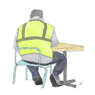 Cart Guy, digital sketch using iPad.