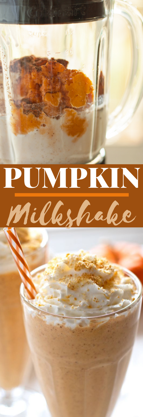Pumpkin Pie Milkshake #drinks #milkshake