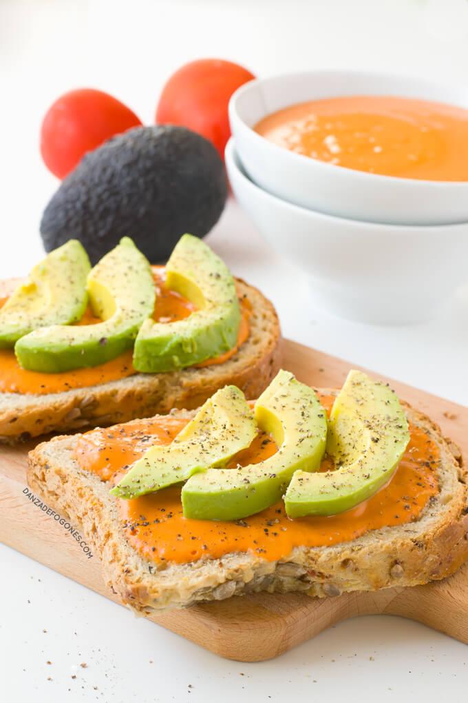Salmorejo and avocado toast | danceofstoves.com