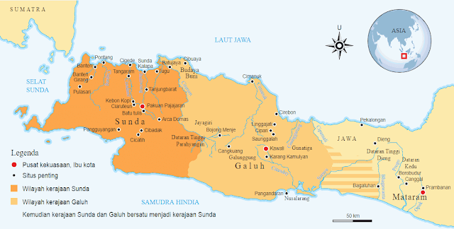 Letak dan Wilayah Kekuasaan Kerajaan Sunda