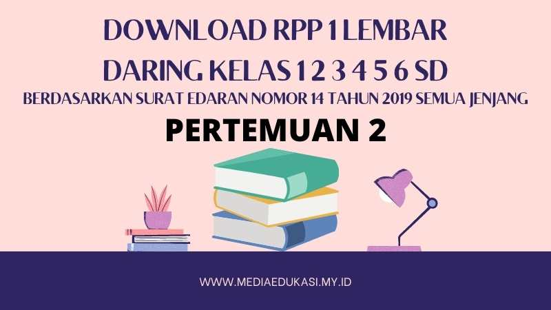 Download RPP 1 Lembar Daring Kelas 1 2 3 4 5 6 SD/MI Berdasarkan Surat Edaran Nomor 14 Tahun 2019 Pertemuan 2