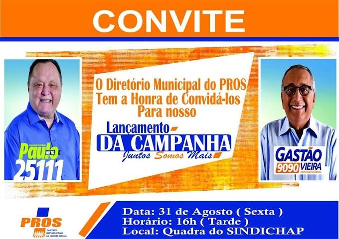 Gastão Vieira lança campanha em Chapadinha