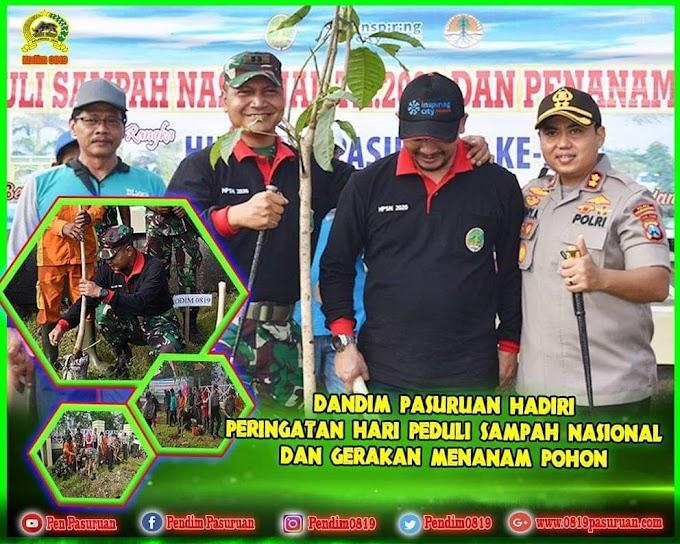 Peringatan Hari Peduli Sampah Nasional dan Gerakan Menanam Pohon Serentak di Hadiri Dandim Pasuruan