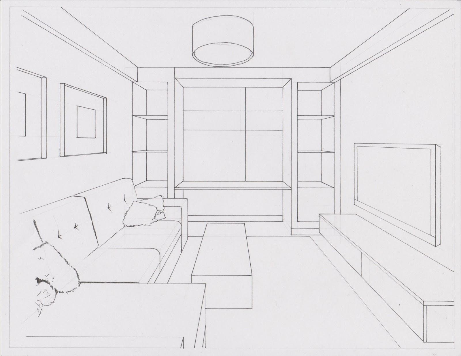 Dise o visual actividad 4 perspectiva c nica - Diseno de una habitacion ...