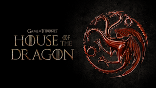 Red Dragon seal with House of the Dragon written in Game of Thrones style writing