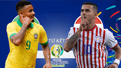 مشاهدة مباراة البرازيل وباراجواي بث مباشر اليوم