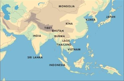 kart over buddhismen Buddhismen: Buddhismen kart over buddhismen