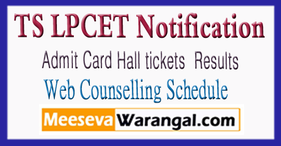 Telangana TS LPCET Admit Card Hall Tickets 2018 Download