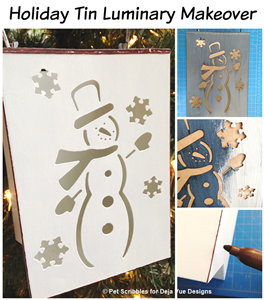 Holiday Tin Luminary Makeover by Pet Scribbles