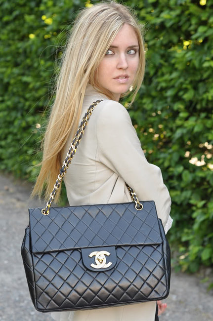 Chanel Large Grocery Shopping Basket W Tags: La Dolce Vita: Glamour Obsession: Chanel 2.55 Jumbo Bag