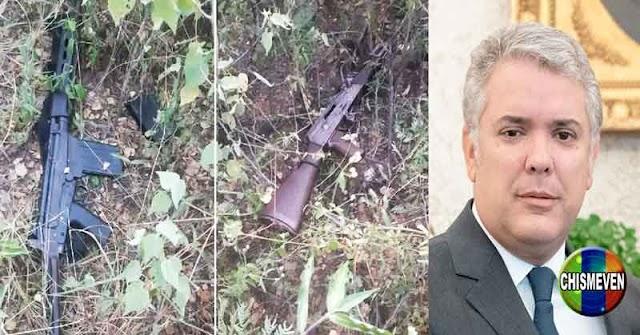 Policía muestra fotos de los fusiles de las FANB con los que dispararon contra Iván Duque