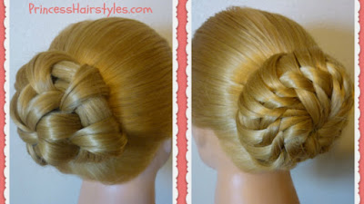2 Gorgeous hairstyles for Homecoming or Prom. Star and flower bun video tutorials.